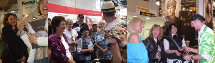 Fair magic attracts attention at the Ambiente, the Caravan Salon, the Top Hair.